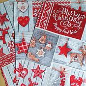 Для дома и интерьера ручной работы. Ярмарка Мастеров - ручная работа Счастливого нового года - подарочный набор новогодних полотенец. Handmade.
