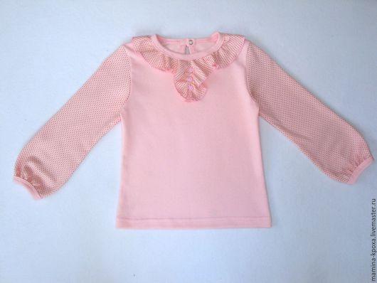 Одежда для девочек, ручной работы. Ярмарка Мастеров - ручная работа. Купить Трикотажная блузка. Handmade. Розовый, туника
