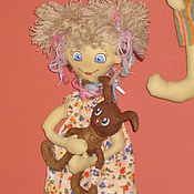 Куклы и игрушки ручной работы. Ярмарка Мастеров - ручная работа КЛАРА с зайчиком. Handmade.