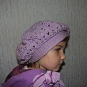 Аксессуары ручной работы. Ярмарка Мастеров - ручная работа Берет фиолетовый. Handmade.