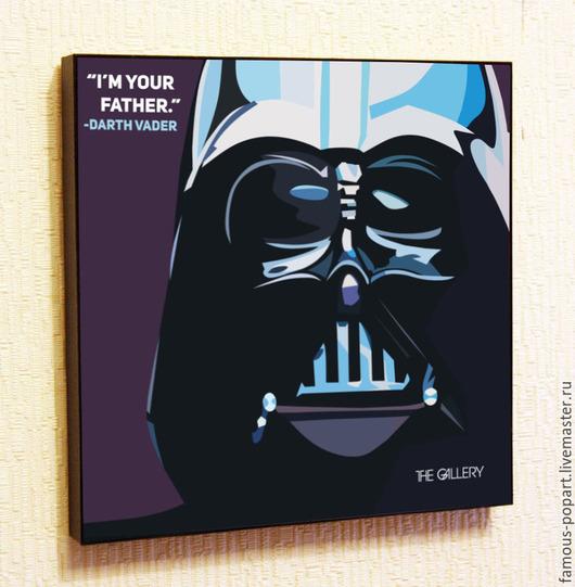 Фантазийные сюжеты ручной работы. Ярмарка Мастеров - ручная работа. Купить Картина Звездные войны, Darth Vader. Handmade.