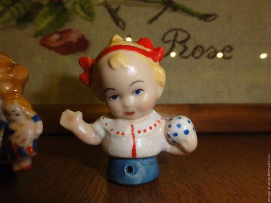 Винтажные куклы и игрушки. Ярмарка Мастеров - ручная работа. Купить Малыш half doll Пупс с мячиком. Handmade. Кукла, подарок