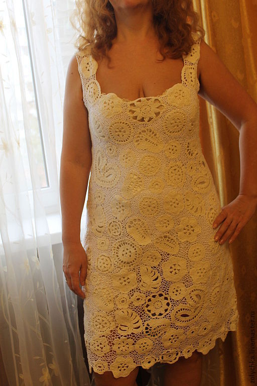 """Платья ручной работы. Ярмарка Мастеров - ручная работа. Купить Платье ручной работы """"Нарядное""""из льна и хлопка. Handmade. Белый"""