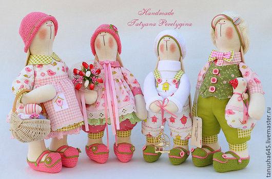 Куклы Тильды ручной работы. Ярмарка Мастеров - ручная работа. Купить Зайцы пасхальные.. Handmade. Зайцы, пасхальный подарок