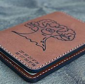 Сумки и аксессуары ручной работы. Ярмарка Мастеров - ручная работа Обложка для двух паспортов из натуральной кожи. Handmade.