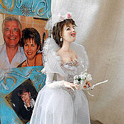 """Куклы и игрушки ручной работы. Ярмарка Мастеров - ручная работа Портретная кукла """"Невеста"""". Handmade."""