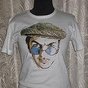 """Одежда ручной работы. Ярмарка Мастеров - ручная работа """"Портрет музыканта"""" на футболке. Handmade."""