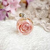 Украшения ручной работы. Ярмарка Мастеров - ручная работа 2.Кулон-сфера с с цветком розы, 22 мм. Handmade.