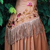 Одежда ручной работы. Ярмарка Мастеров - ручная работа Нарядное платье с вышивкой. Вышитое платье «Дивная роза». Handmade.