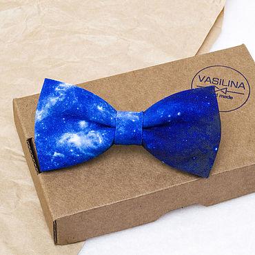 Accessories handmade. Livemaster - original item Bow tie Space. Handmade.