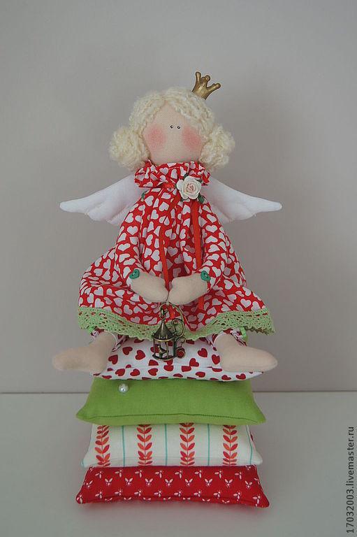 Куклы Тильды ручной работы. Ярмарка Мастеров - ручная работа. Купить Принцесса на горошине. Handmade. Ярко-красный