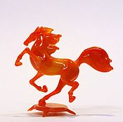 Для дома и интерьера handmade. Livemaster - original item Interior figurine made of colored glass Horse Bird three. Handmade.