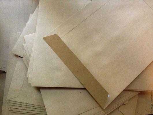 Упаковка ручной работы. Ярмарка Мастеров - ручная работа. Купить Крафт-конверт С5 с клеевым клапаном.. Handmade. Крафт конверт