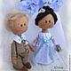 свадьба, свадебный подарок, подарок на свадьбу, свадебные куклы, свадебная пара, куклы  в подарок, авторские куклы, коллекционная кукла, Юлия Голованова, Ярмарка мастеров