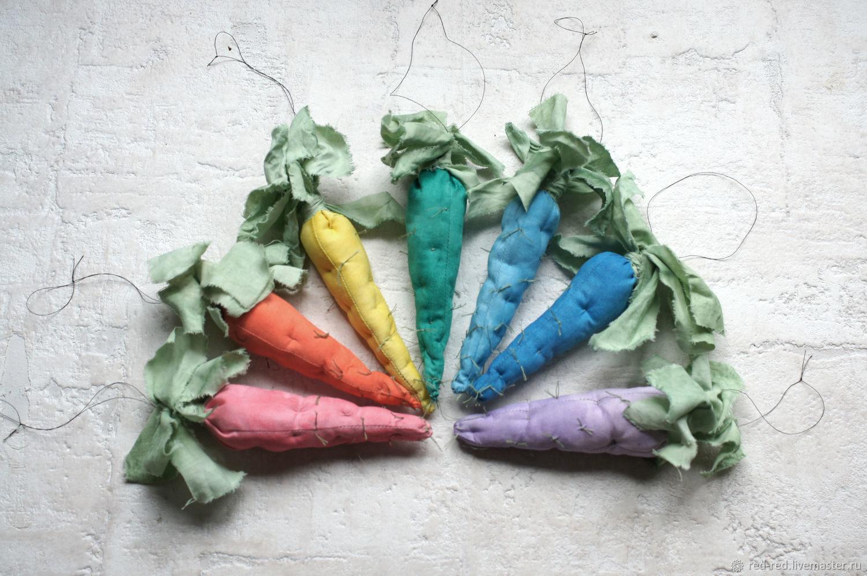 Новый год 2019 ручной работы. Ярмарка Мастеров - ручная работа. Купить Набор - Морковки разноцветные, елочные игрушки. Handmade. гирлянда