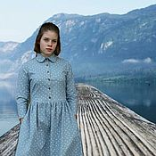 Одежда handmade. Livemaster - original item Dress warm cotton