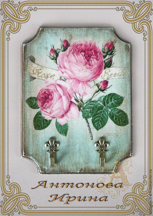 """Крючок-""""Роза"""",для дома ручной работы.Антонова Ирина.Ярмарка Мастеров."""