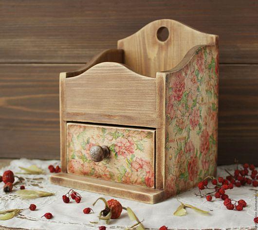 Мини-комоды ручной работы. Ярмарка Мастеров - ручная работа. Купить Комодик деревянный Винтажные розы в стиле шебби,винтаж. Handmade.
