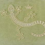 Материалы для творчества handmade. Livemaster - original item Embroidery applique lizard mistress of the Copper mountain patch FSL. Handmade.