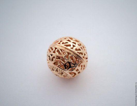 Для украшений ручной работы. Ярмарка Мастеров - ручная работа. Купить Буcины ажурные шарики Ю.Корея 13мм, 2 цвета. Handmade.