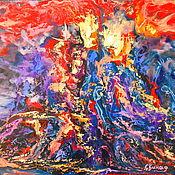 Картины и панно handmade. Livemaster - original item Volcano oil painting