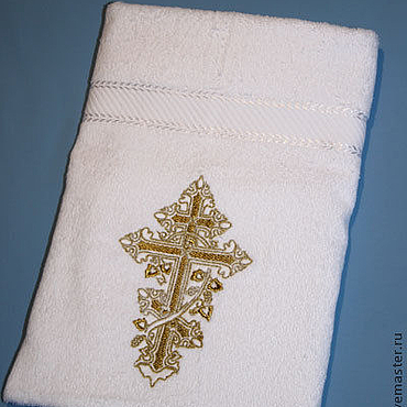 Works for children handmade. Livemaster - original item Baptismal towel