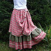 Одежда handmade. Livemaster - original item No. №216 Linen layered boho skirt. Handmade.