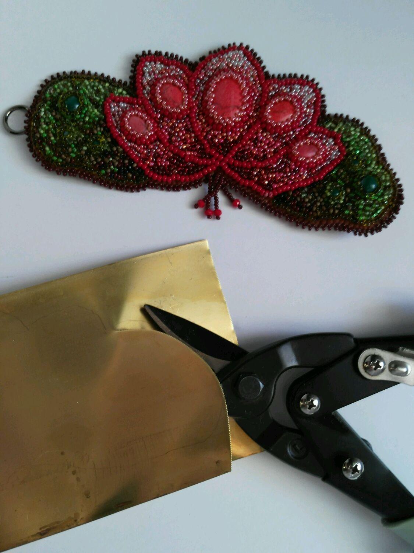 Аппликации, вставки, отделка ручной работы. Ярмарка Мастеров - ручная работа. Купить Латунь основа для браслетов. Handmade. Браслет, основа