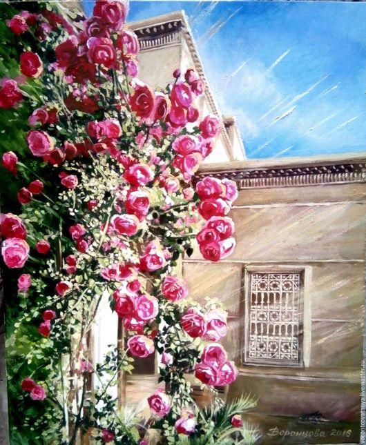 """Картины цветов ручной работы. Ярмарка Мастеров - ручная работа. Купить """"Розовый Марокко"""". Handmade. Комбинированный, марокко, картина с цветами"""