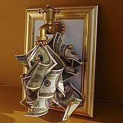 Сувениры и подарки handmade. Livemaster - original item Money crane in frame. Handmade.