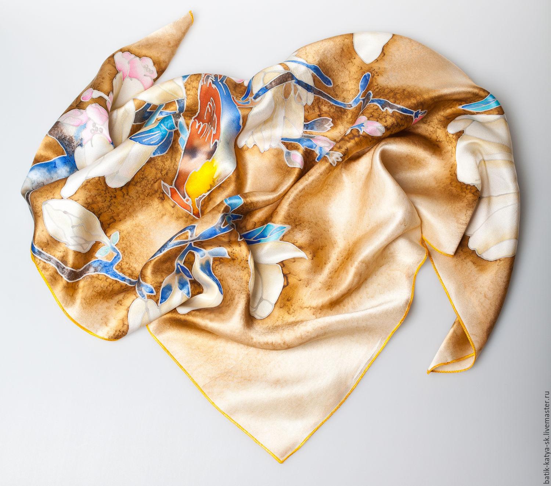 Batik silk scarf 'Magnolia', Shawls1, Moscow,  Фото №1