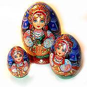 """Русский стиль ручной работы. Ярмарка Мастеров - ручная работа Матрешка-яйцо """"Всем сестрам по серьгам"""". Handmade."""