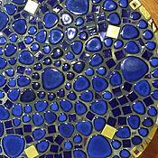 """Для дома и интерьера ручной работы. Ярмарка Мастеров - ручная работа Столик придиванный """"Золотой век"""" мозаика. Handmade."""