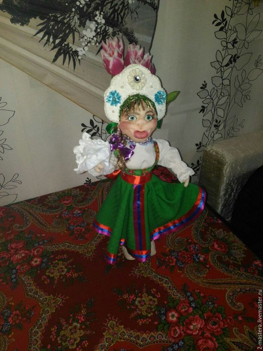 Коллекционные куклы ручной работы. Ярмарка Мастеров - ручная работа. Купить Марья-краса. Handmade. Зеленый, кукла ручной работы