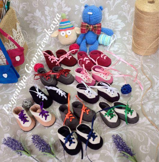 Куклы и игрушки ручной работы. Ярмарка Мастеров - ручная работа. Купить Обувь для кукол. Handmade. Замша натуральная, handmade, замша