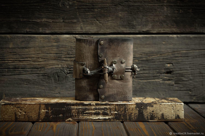 Коричневый блокнот А6 из сыромятной кожи, Блокноты, Красноярск,  Фото №1