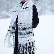 Аксессуары handmade. Livemaster - original item Women`s scarf, hand woven Scarf, Warm large stole-SC0870CKW. Handmade.