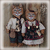 Куклы и игрушки ручной работы. Ярмарка Мастеров - ручная работа Кот и Кошка. Handmade.