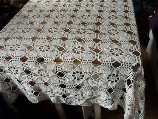 Текстиль, ковры ручной работы. Ярмарка Мастеров - ручная работа. Купить Нарядная скатерть. Handmade. Вязание крючком, вязание на заказ