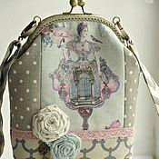 """Сумка женская сумка текстиль сумка с фермуаром """"Леди"""""""