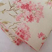 Ткани ручной работы. Ярмарка Мастеров - ручная работа Ткань для штор розы на молочном фоне. Handmade.