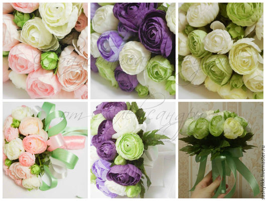 Свадебные цветы ручной работы. Ярмарка Мастеров - ручная работа. Купить Дубль букеты. Handmade. Розовый, букет