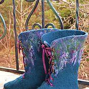 Обувь ручной работы. Ярмарка Мастеров - ручная работа Сапоги бирюзовые. Handmade.