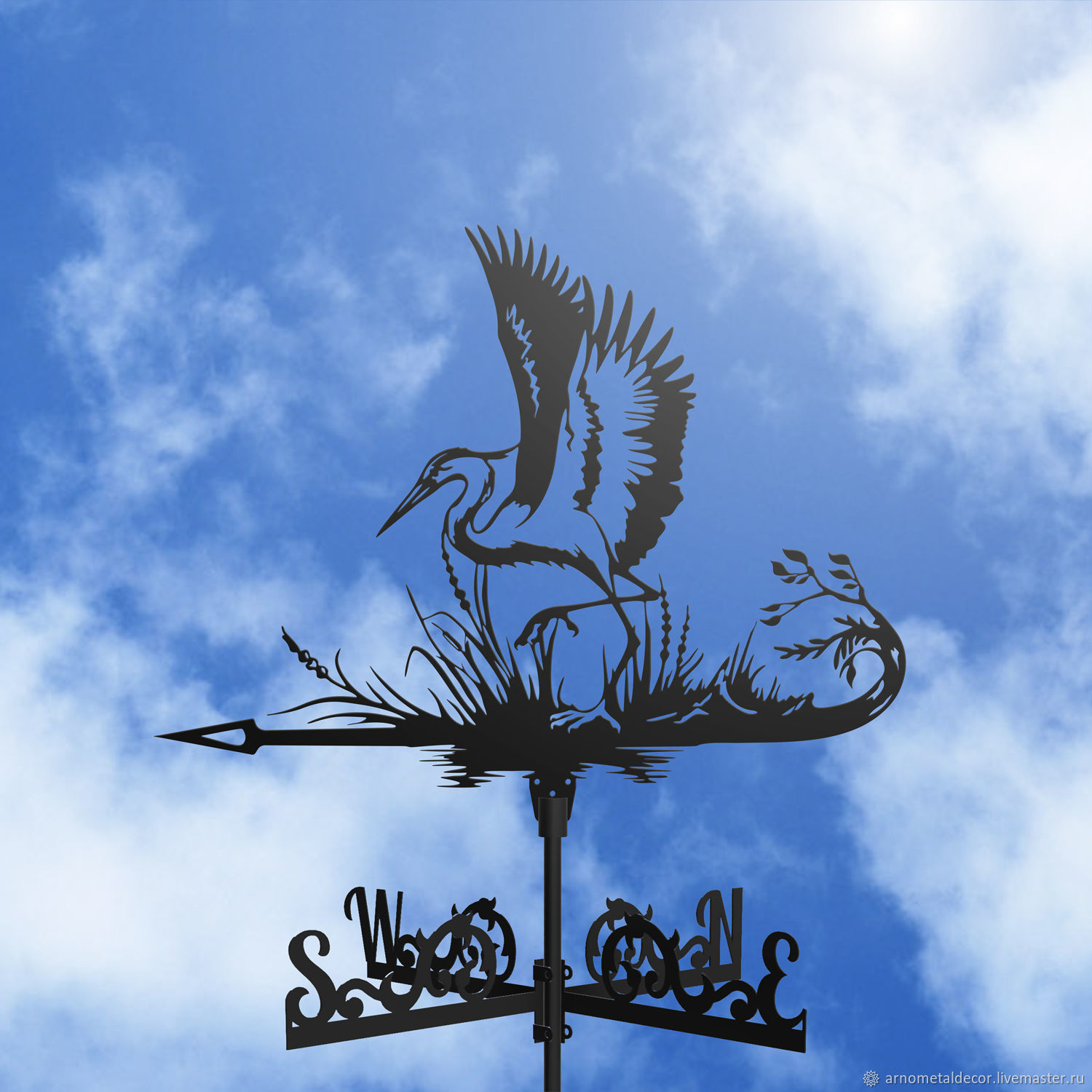 Weather vane on the roof ' Heron', Vane, Ivanovo,  Фото №1