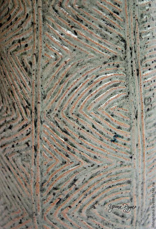 Вазы ручной работы. Ярмарка Мастеров - ручная работа. Купить Чудесный керамический кувшин. Handmade. Зеленый, irinanana, дача, бохо