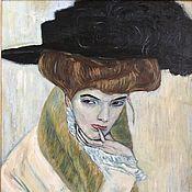 Портрет дамы в черной шляпе