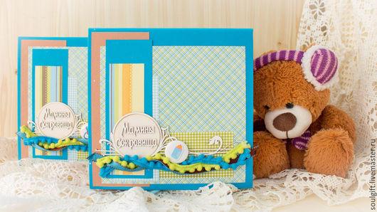 Подарки для новорожденных, ручной работы. Ярмарка Мастеров - ручная работа. Купить Мамины сокровища для близнецов (для мальчиков). Handmade. Голубой