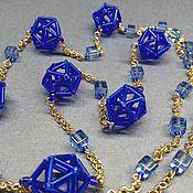 Украшения handmade. Livemaster - original item Long beads Stereometry. Handmade.