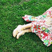 Украшения ручной работы. Ярмарка Мастеров - ручная работа Украшения для ног - белый цветок. Handmade.