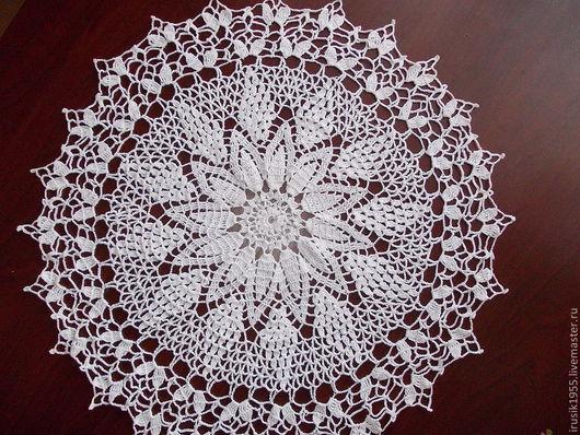Текстиль, ковры ручной работы. Ярмарка Мастеров - ручная работа. Купить салфетка № 27. Handmade. Белый
